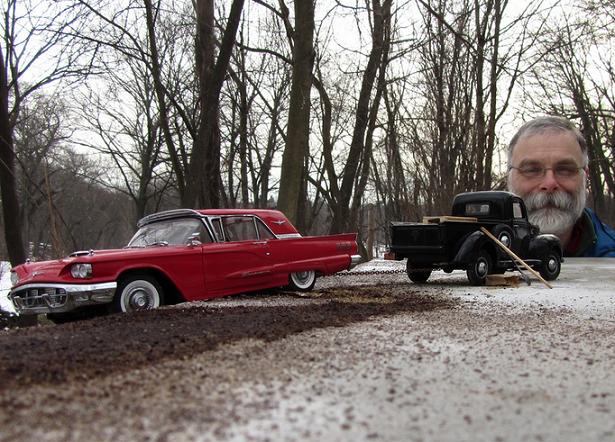 Incríveis cenários em miniatura fotografados com modelos die-cast e perspectiva forçada