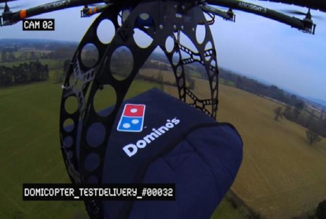 Você gostaria que um drone entregasse sua pizza?