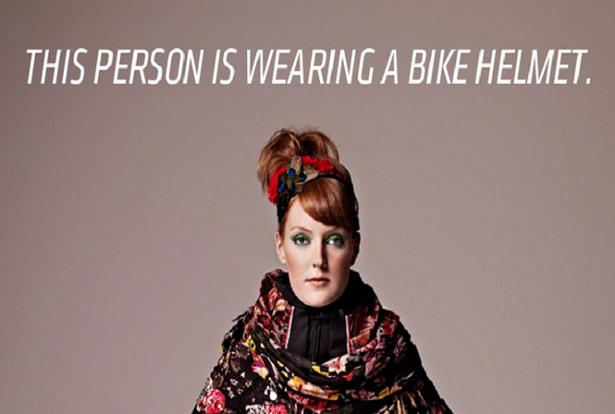 Confira este capacete de bicicleta invisível criado por duas designers da Suécia