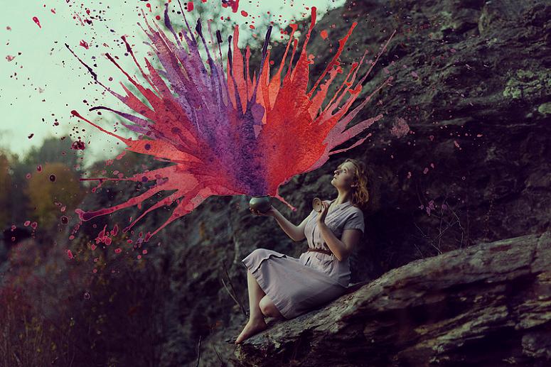 Uma combinação deslumbrante! Isso é o que acontece quando fotografias e aquarelas se encontram.
