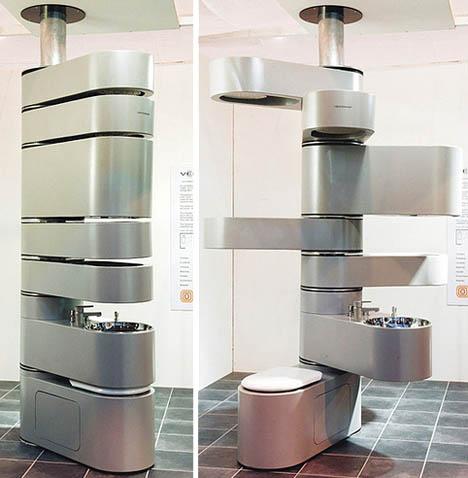 Este é provavelmente o banheiro mais compacto da história!
