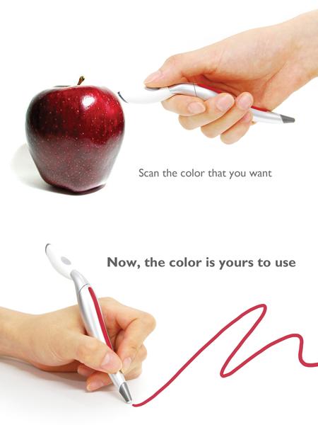 Mostre uma cor que você gostou para esta caneta. Agora, espere um pouco… Pronto, voilà!