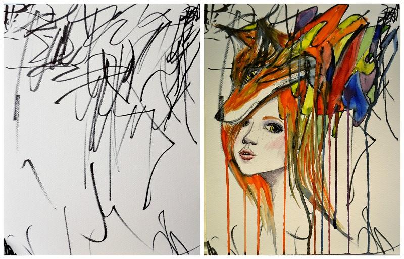 Artista Transforma Desenhos De Sua Filha De 2 Anos Em Pinturas. Isso É Absolutamente Brilhante!