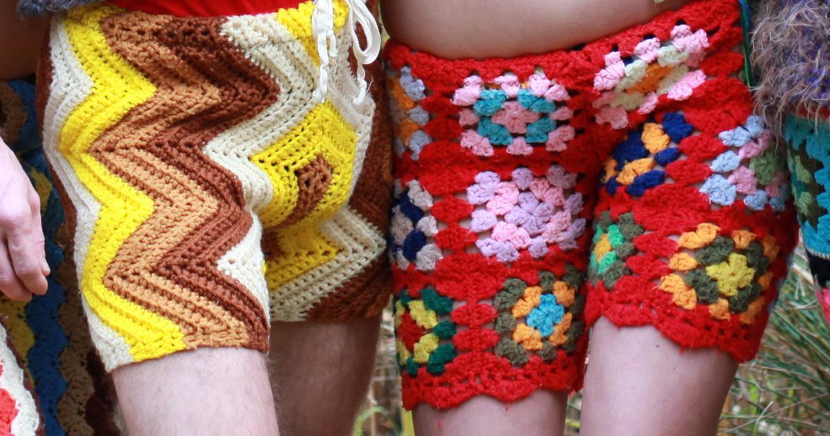 Nova Moda Para Homens: Bermudas E Calças De Crochê Feitas Com Material Reciclável