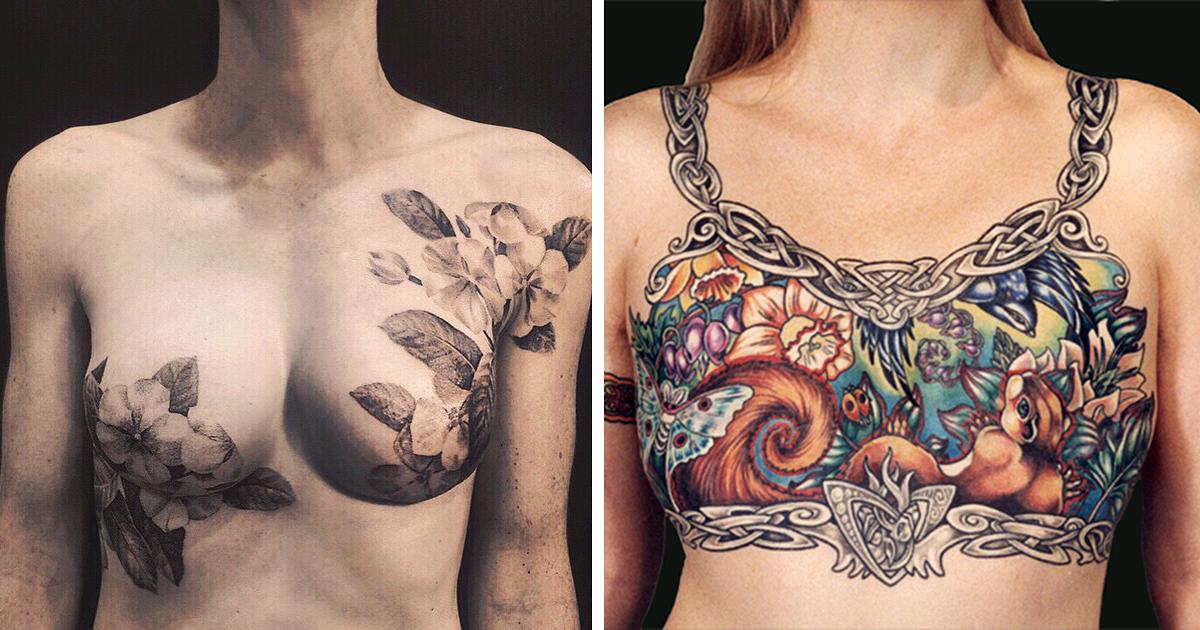 Artistas Cobrem As Cicatrizes Deixadas Nas Sobreviventes Do Câncer De Mama Com Belas Tatuagens
