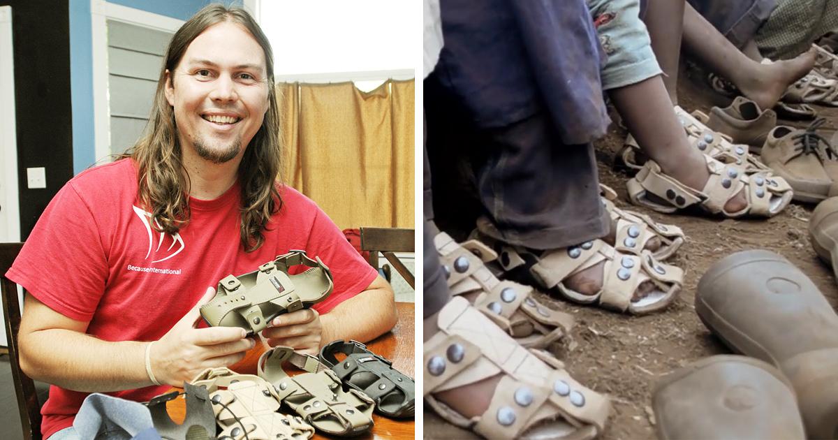 Um Homem Inventou Sapatos Que Podem Crescer 5 Tamanhos Em 5 Anos. Isso Vai Ajudar Milhares De Crianças Carentes!
