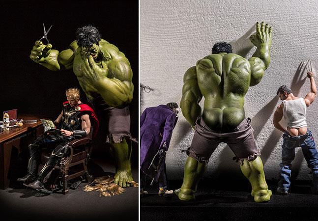20 Fotos De Seus Super-Heróis Favoritos Em Situações Inusitadas