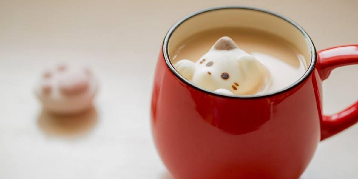 Este Marshmallow Em Forma De Gato É Exatamente O Que Seu Chocolate Quente Está Precisando