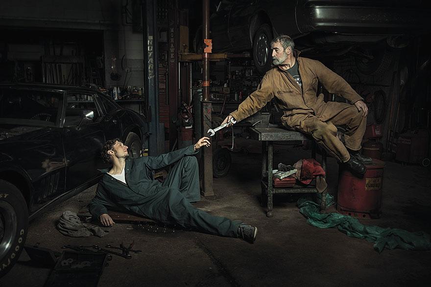 Mecânicos Recriam Pinturas Do Renascimento De Forma Engraçada