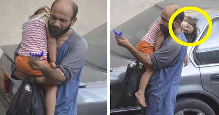 Este Homem Vendia Canetas Nas Ruas Para Sobreviver. Então, Um Desconhecido Tirou Esta Foto De Sua Filha…