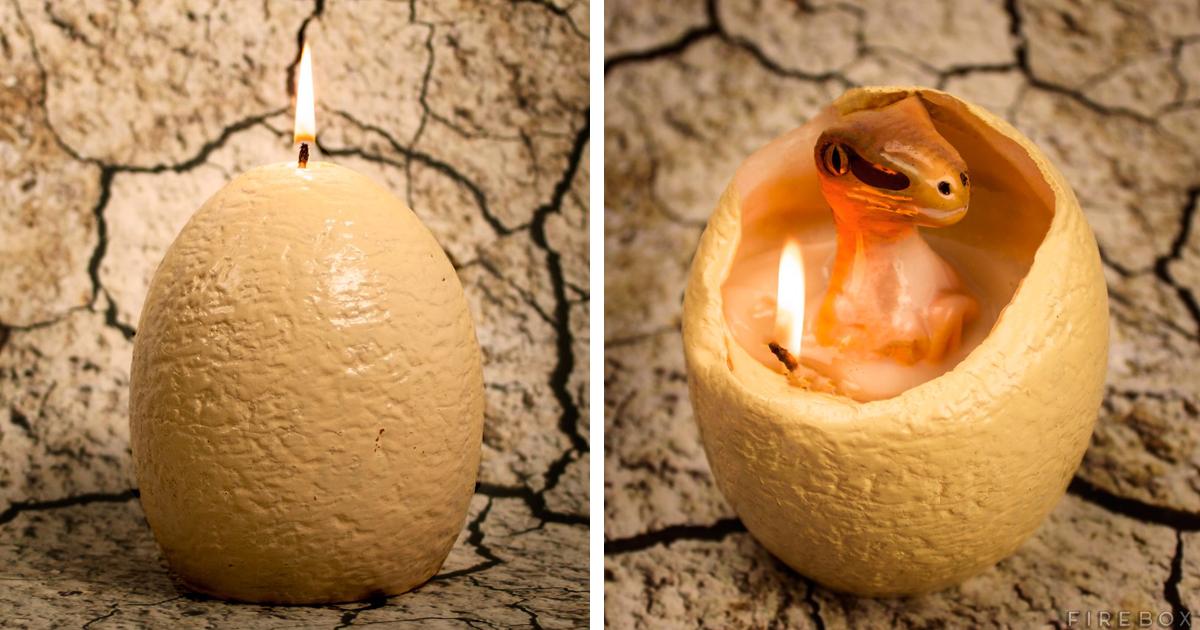 Esta Vela De Ovo De Dinossauro Mostra Um Bebê Raptor Quando Derrete