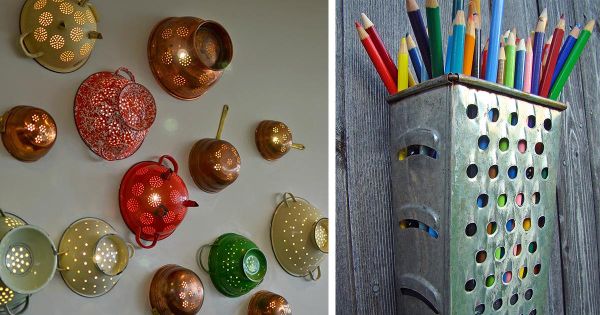15 Formas Criativas De Reutilizar Itens De Cozinha Velhos