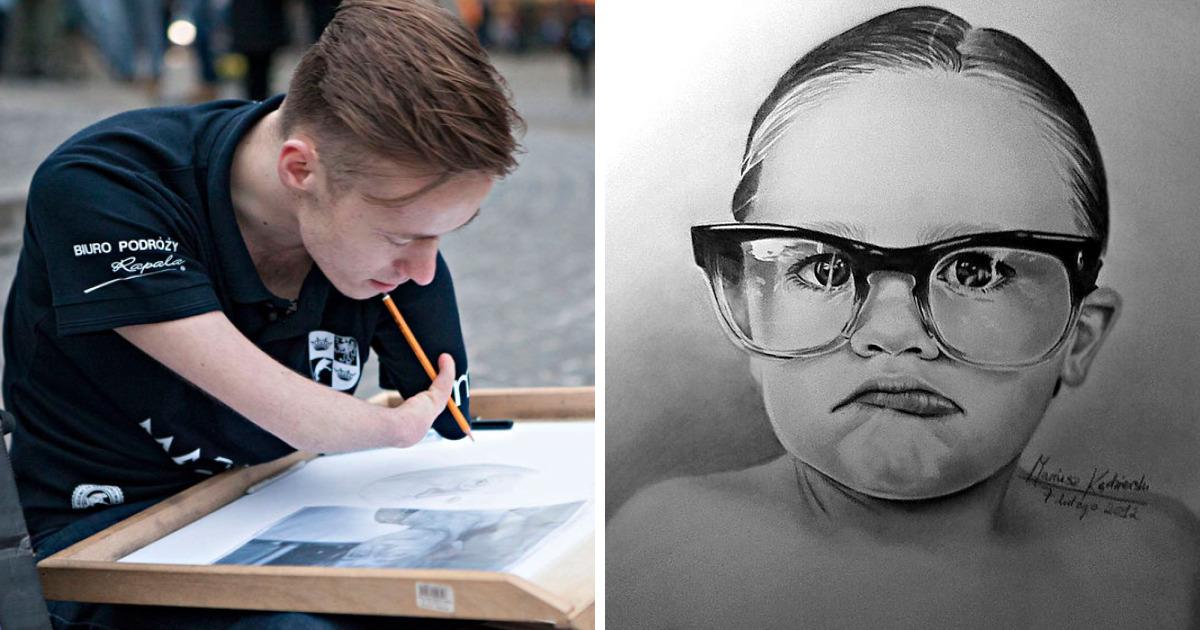 Eu Nasci Sem Os Braços, Mas Consegui Realizar O Meu Sonho De Fazer Desenhos Realistas.