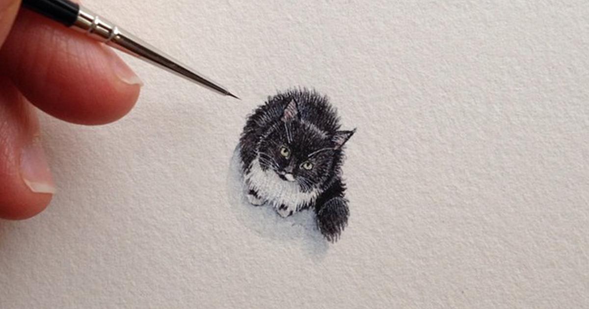 Após Se Tornar Mãe, Eu Não Tinha Mais Tempo Para Pintar, Então Comecei A Fazer Um Desenho Minúsculo Por Dia