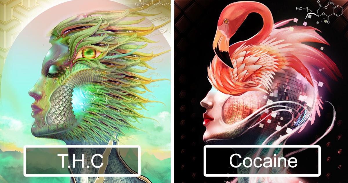 Artista Usa 20 Drogas Diferentes E Cria 20 Ilustrações Para Mostrar Seus Efeitos
