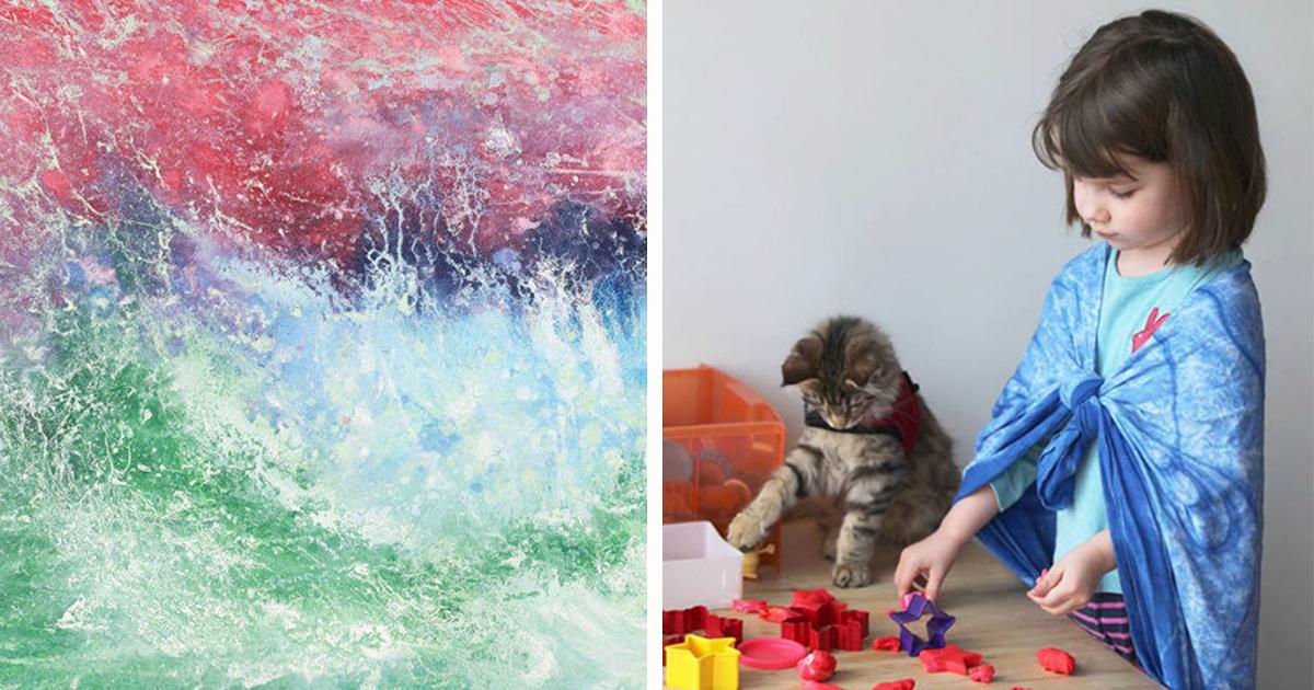 Menina De 6 Anos Com Autismo Cria Arte Impressionante E Angelina Jolie Acaba De Comprar Sua Pintura!
