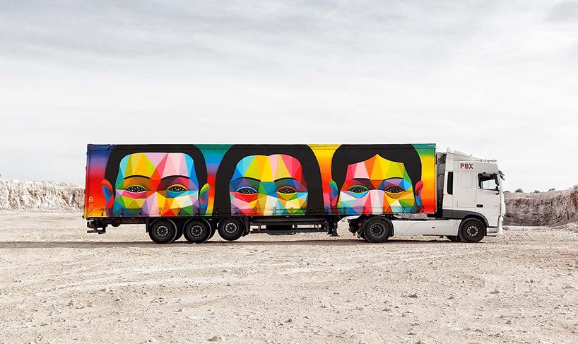 Projeto Transforma Caminhões Em Uma Frota De Obras De Arte Móveis