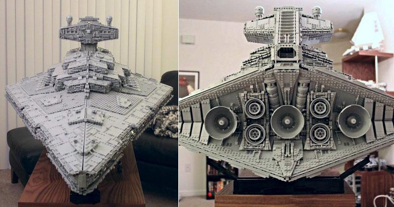 Jovem Constrói Nave De Star Wars Com LEGO De Forma Surpreendente