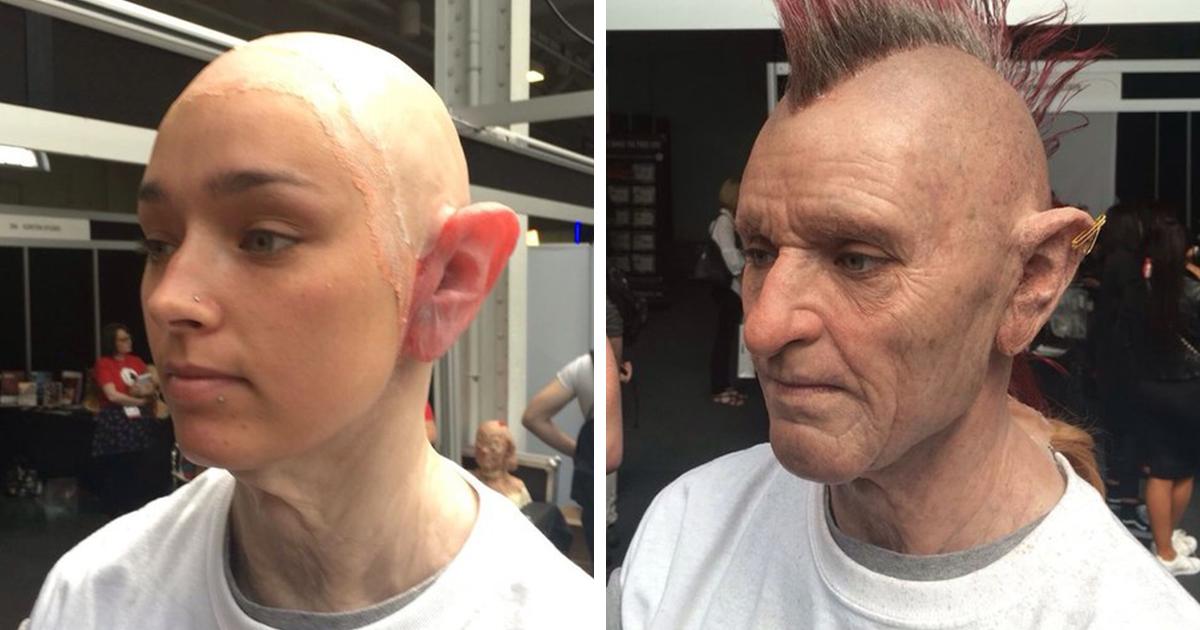 Artista Transforma Garota Em Punk Mais Velho Para Mostrar Suas Habilidades De Maquiagem