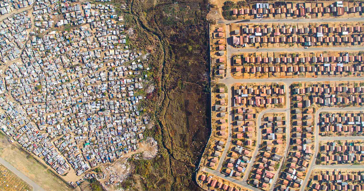 Drones Capturam Linhas Separando Ricos E Pobres E Evidenciam Desigualdade