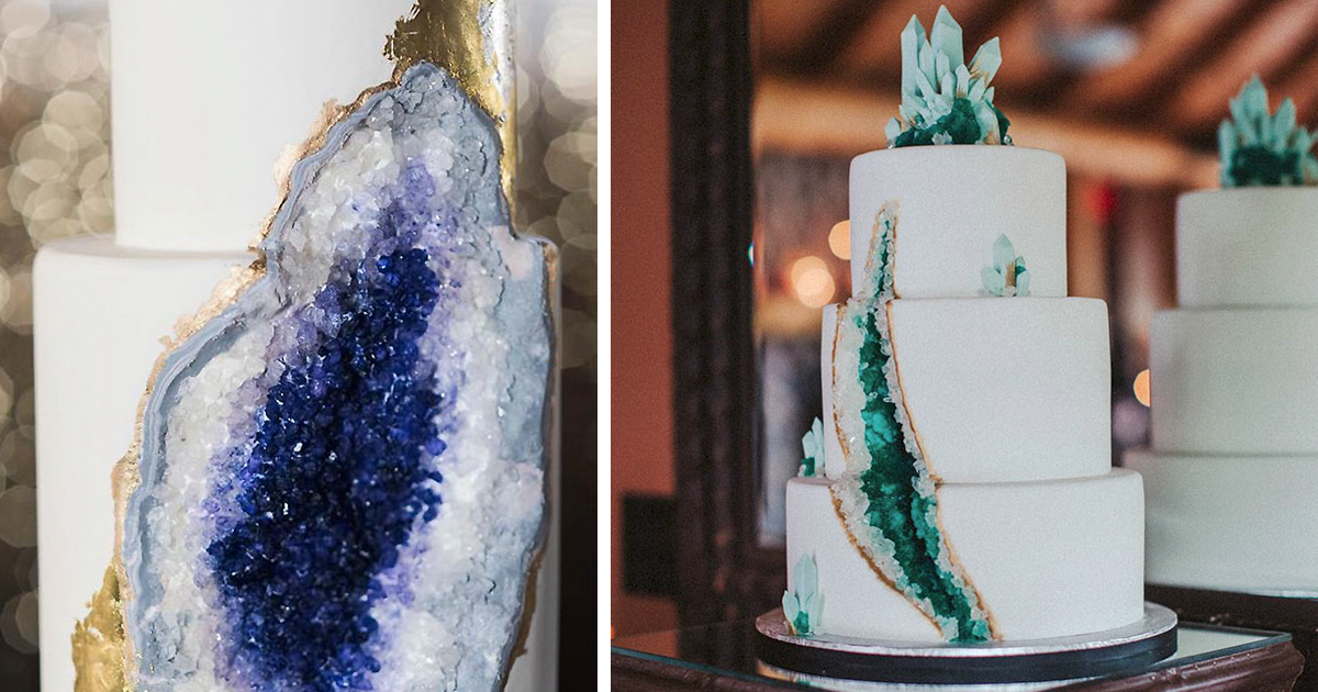 Esta Nova Moda Do Bolo Geode De Casamento Está Bombando Na Internet