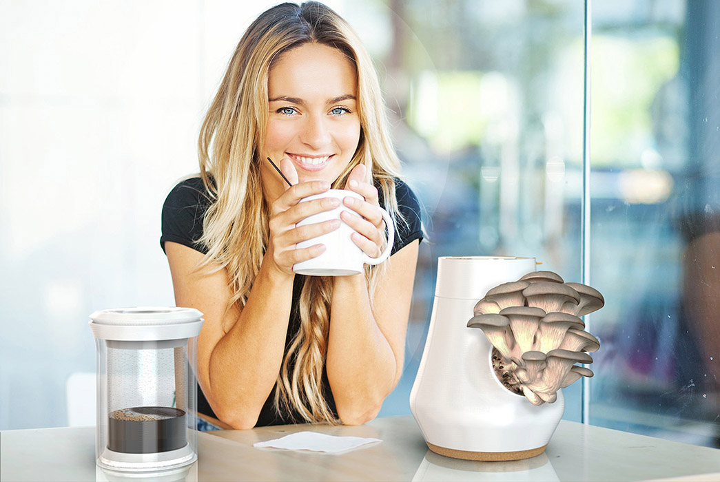 Esta Cafeteira Descolada Permite Que Você Cultive Cogumelos A Partir Da Borra Do Café