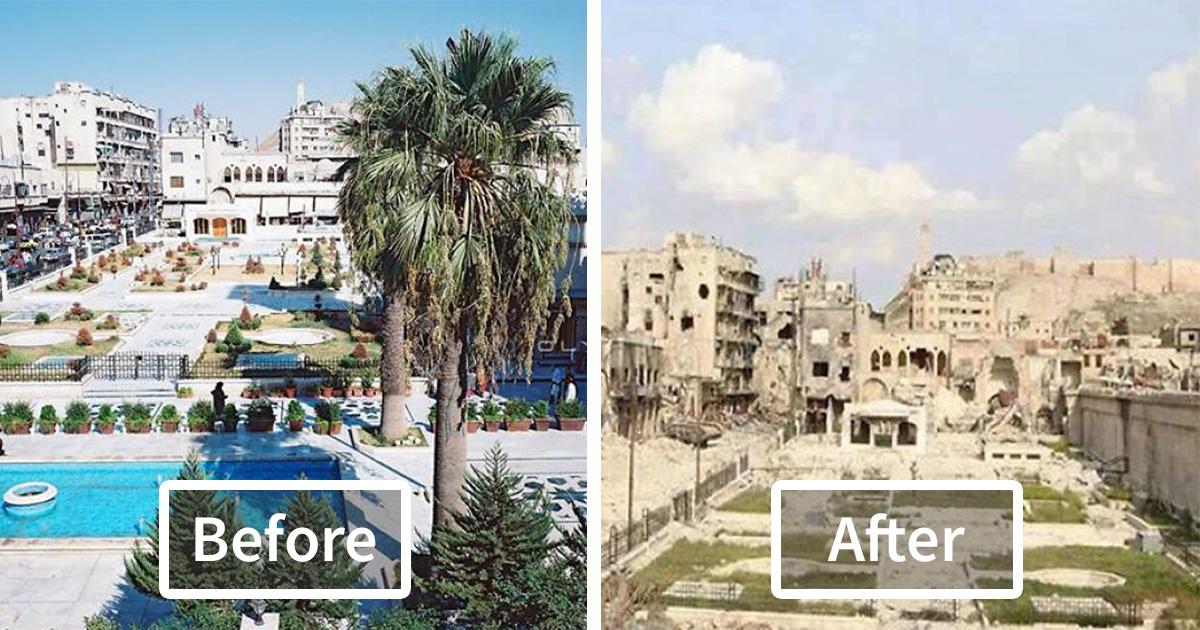 Resultado de imagem para siria antes e depois