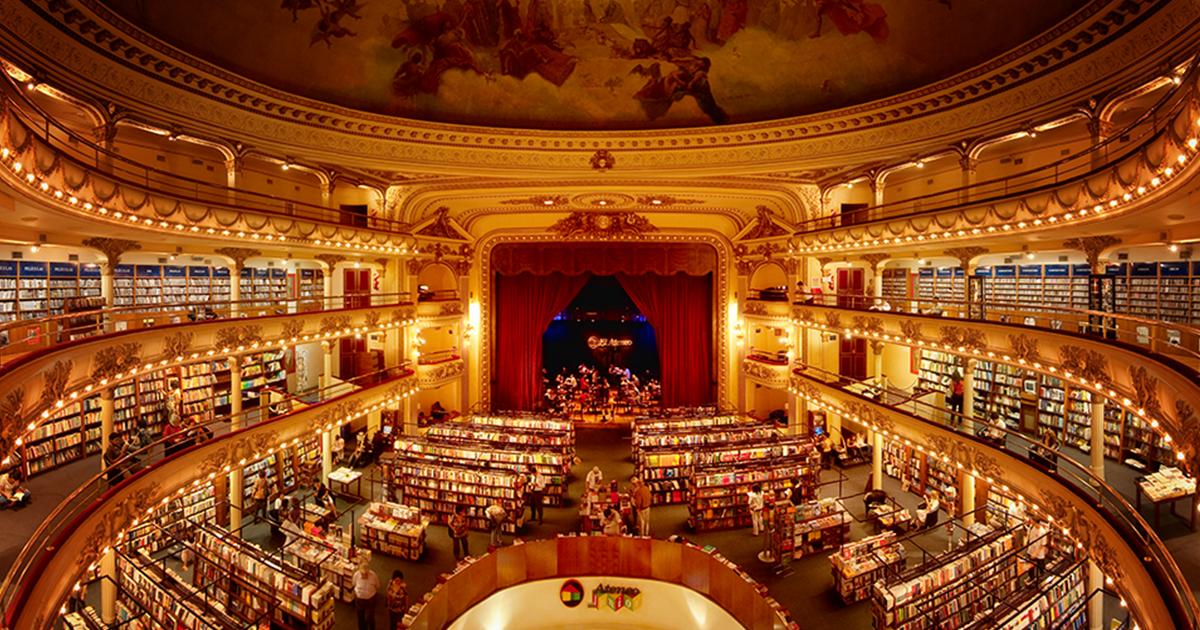 Teatro De 100 Anos Em Buenos Aires É Transformado Em Uma Livraria Impressionante