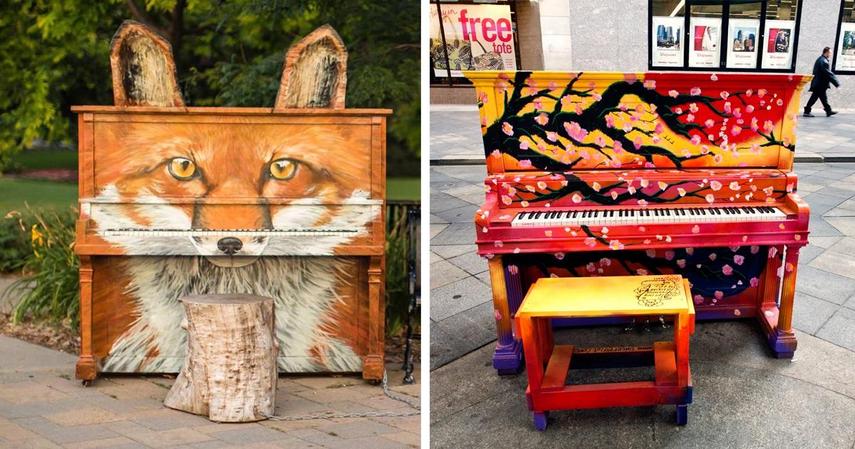 20 Pianos Ao Ar Livre Belíssimos Espalhados Pelo Mundo Para Você Tocar