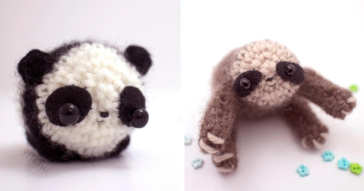Animais Em Miniatura Feitos De Crochê
