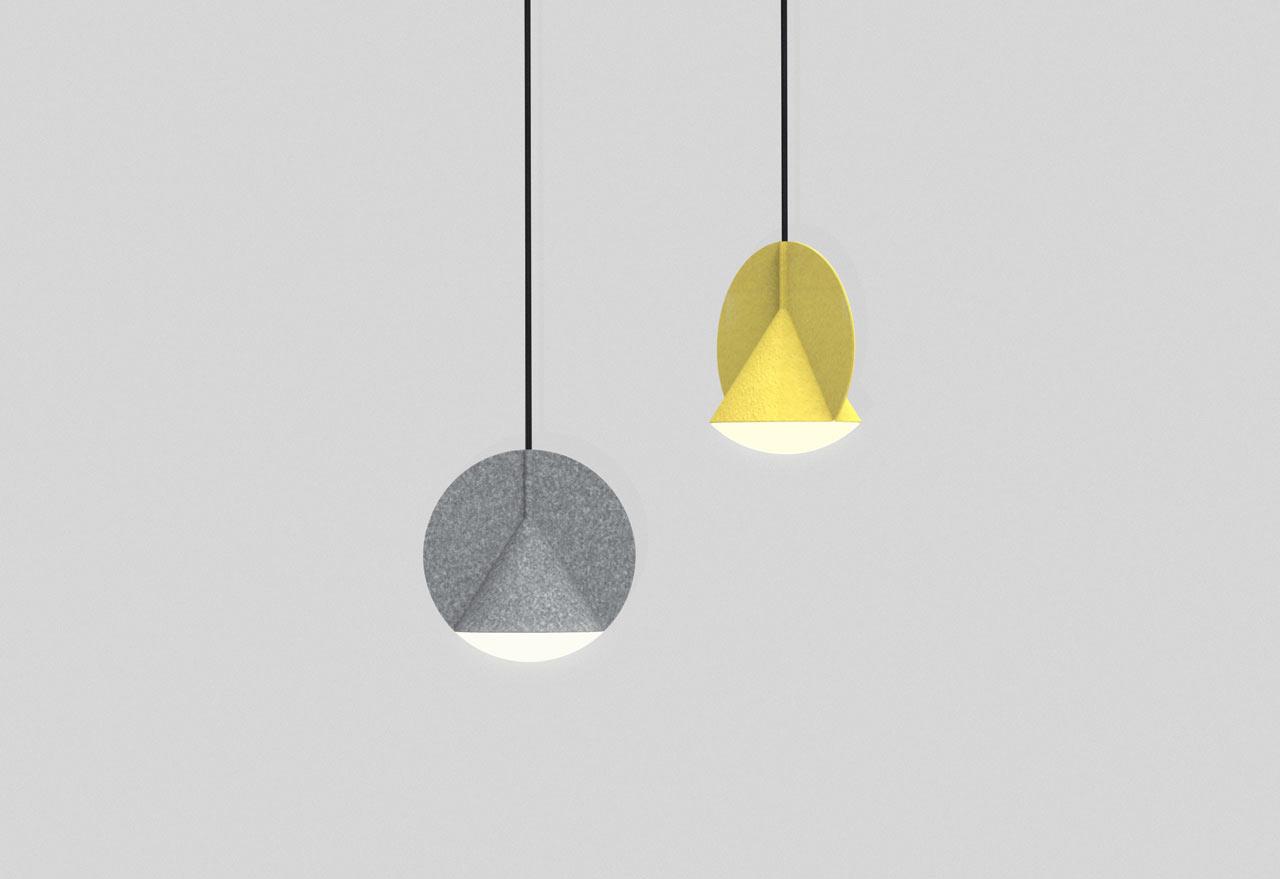 Uma Luminária Suspensa Que Abusa Da Geometria