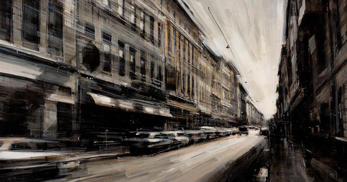 Novas Paisagens Urbanas Em Movimento Pintadas Por Artista Italiano
