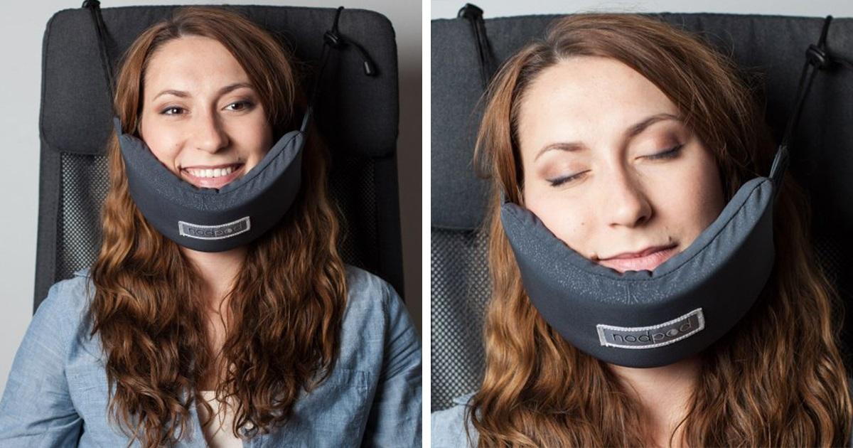 Até Que Enfim Alguém Inventou Uma Rede De Cabeça Para Você Poder Dormir No Avião