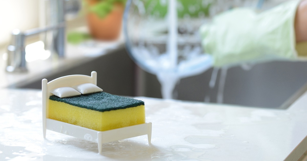 Este Suporte De Esponja É Uma Cama Em Miniatura Para Que Sua Esponja Possa Descansar Também