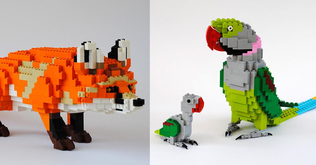 Este Artista Alemão Cria Animais De LEGO Com Maestria