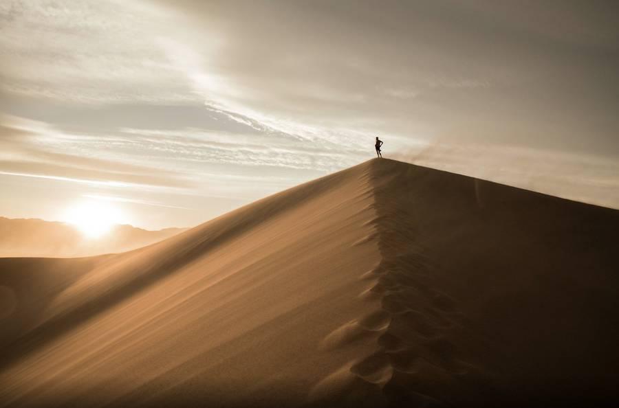 As Fotografias De Tirar O Fôlego De Dunas No Meio Do Vale Da Morte