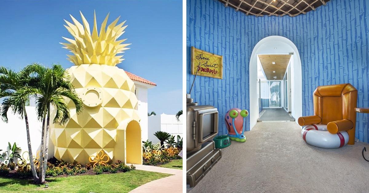 Os Fãs Do Bob Esponja Agora Podem Se Hospedar Neste Hotel Conhecido Como A Vila Do Abacaxi