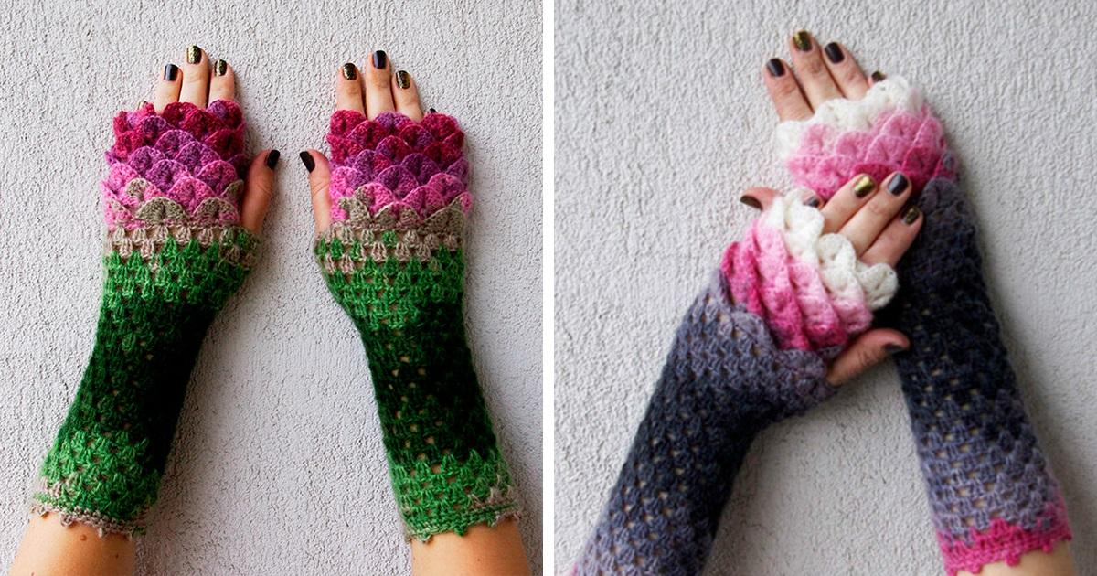Estas Luvas De Dragão Com Escamas Feitas De Crochê Estão Dando O Que Falar