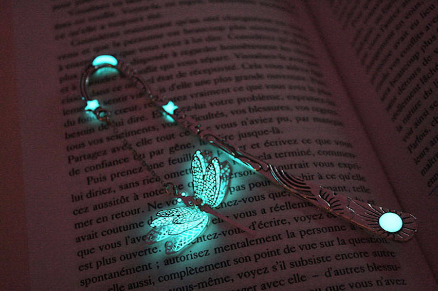 Marcadores De Página Mágicos Que Brilham No Escuro