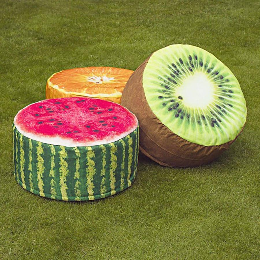 Estes Pufes Em Forma De Fatias De Frutas São O Que Faltava Na Sua Casa