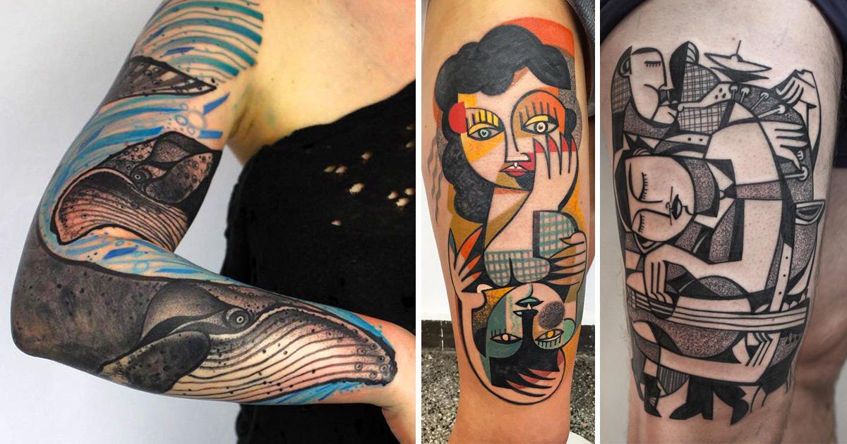As Tatuagens Vibrantes Deste Artista Alemão Vão Te Deixar Com Vontade De Tatuar Agora