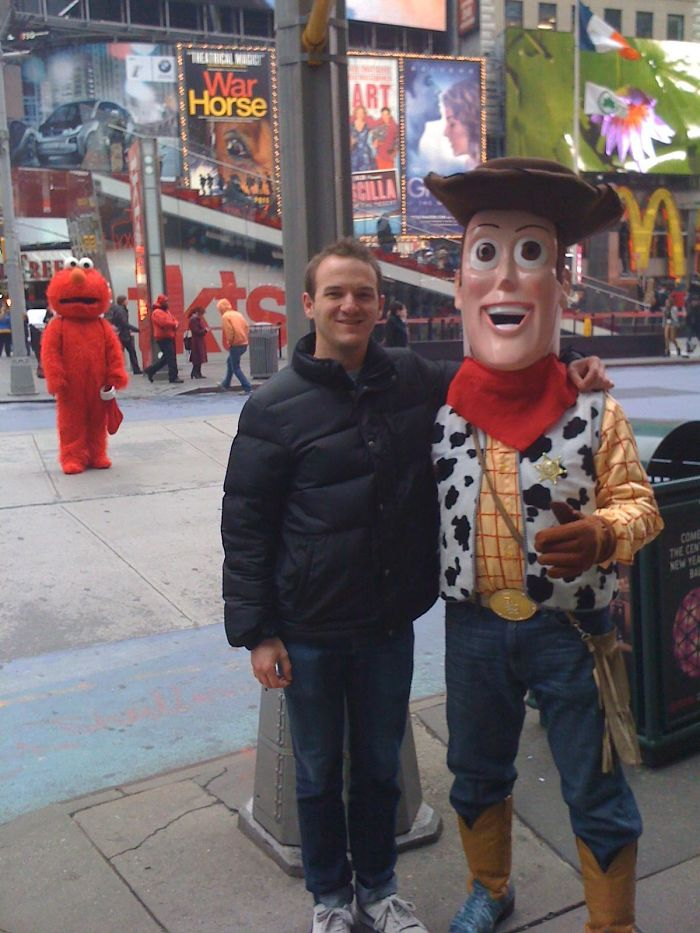 Got A Picture With Woody In Times Square...