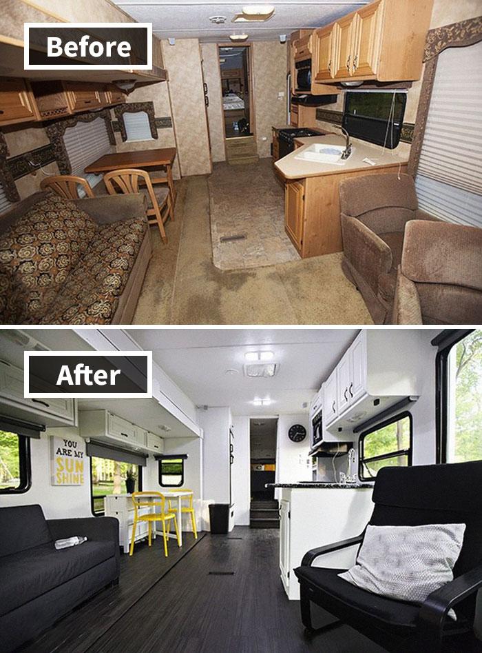 10 cômodos antes e depois da reforma