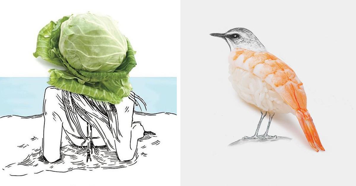 Artista transforma objetos comuns do cotidiano em ilustrações inteligentes