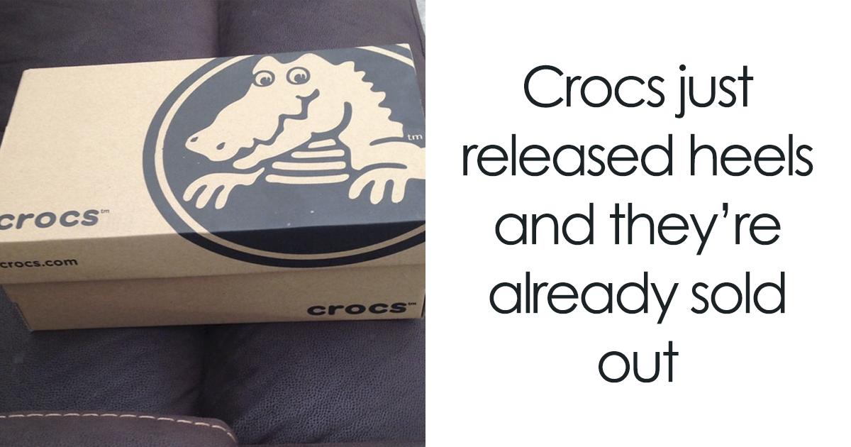 As pessoas estão precisam ver isso: crocs de salto alto