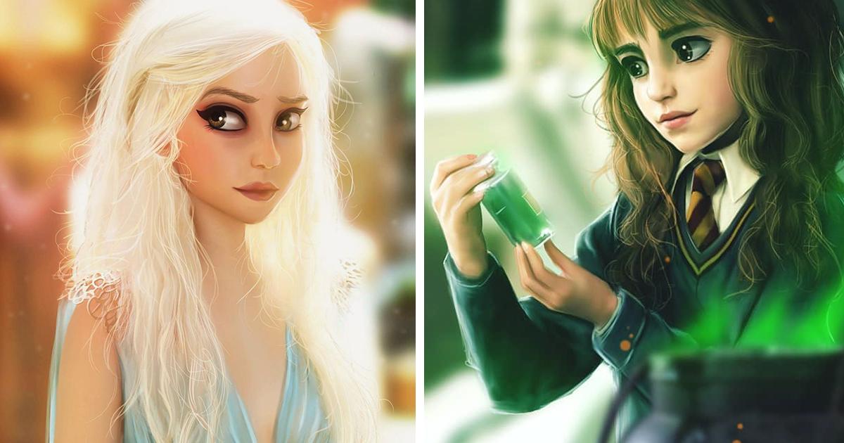 Essa artista desenha personagens da cultura pop em seu próprio estilo, e o resultado é lindo