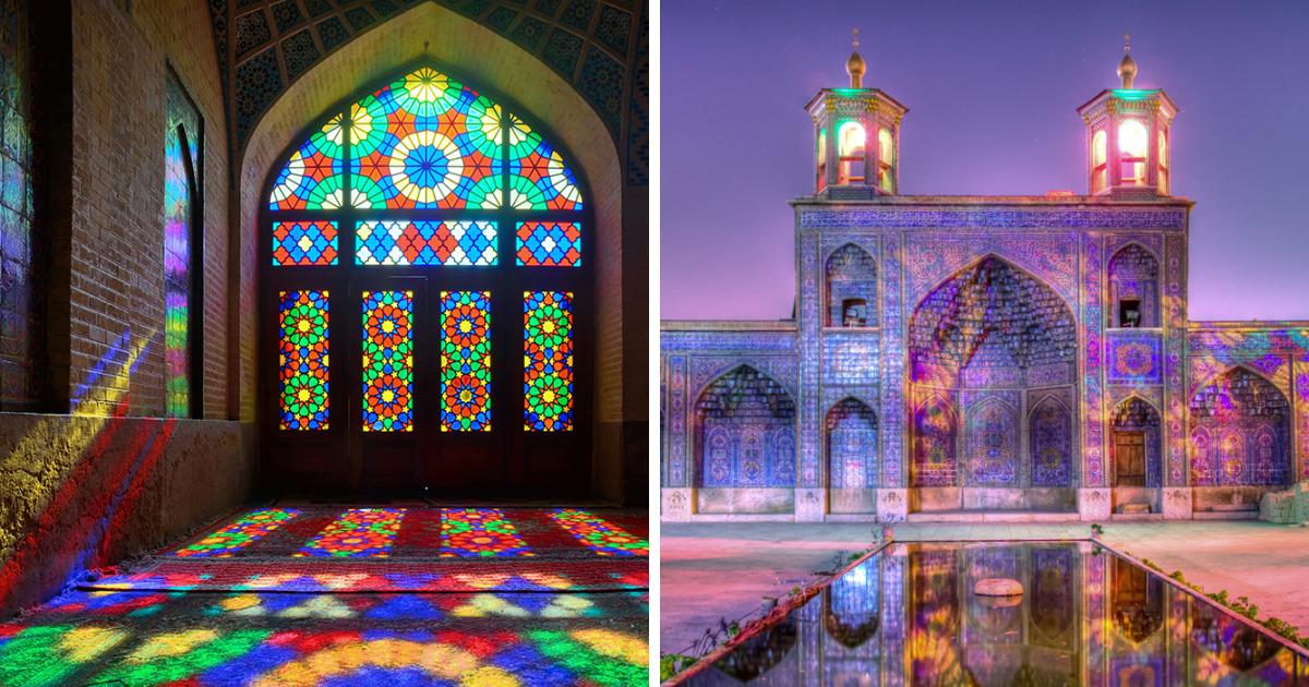 Fotografei Nasir-Ol-Molk, a mesquita mais bonita do mundo