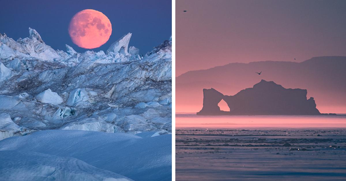Fotografei o fiorde de gelo de Ilulissat, um lugar surreal na Groenlândia cercado por inúmeros icebergs
