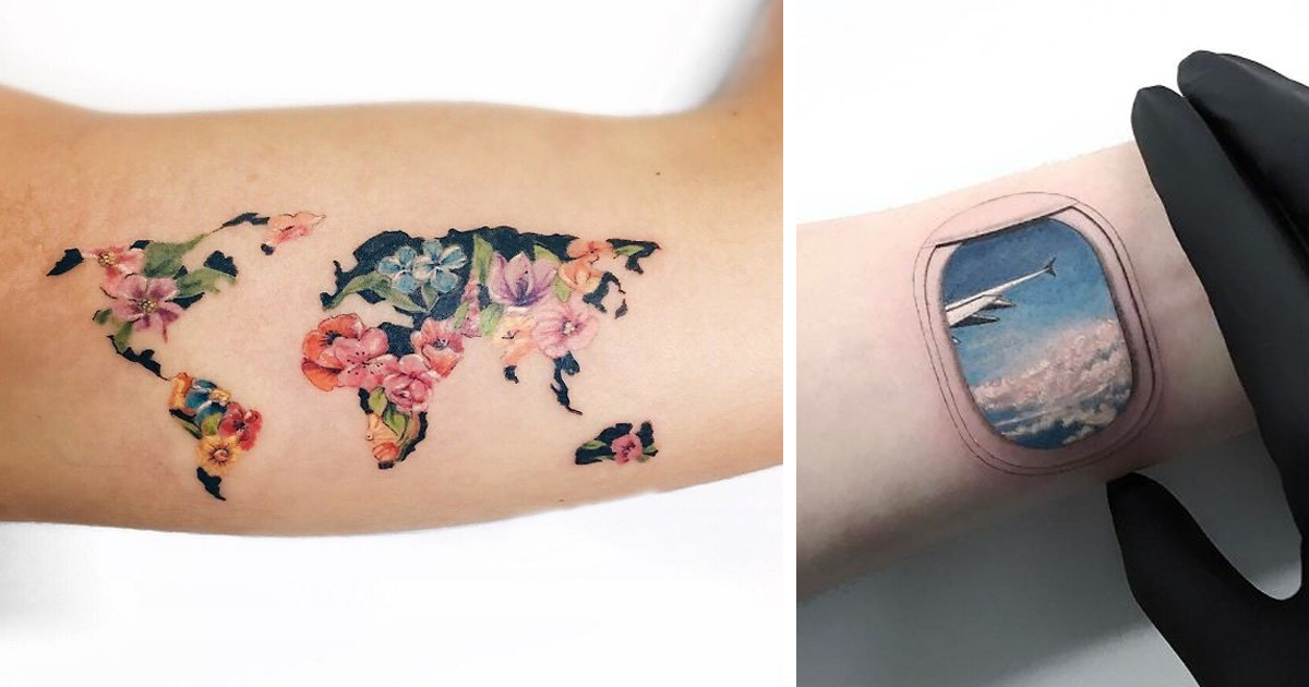 10 ideias de tatuagem de viagem que farão você querer arrumar suas malas o mais rápido possível