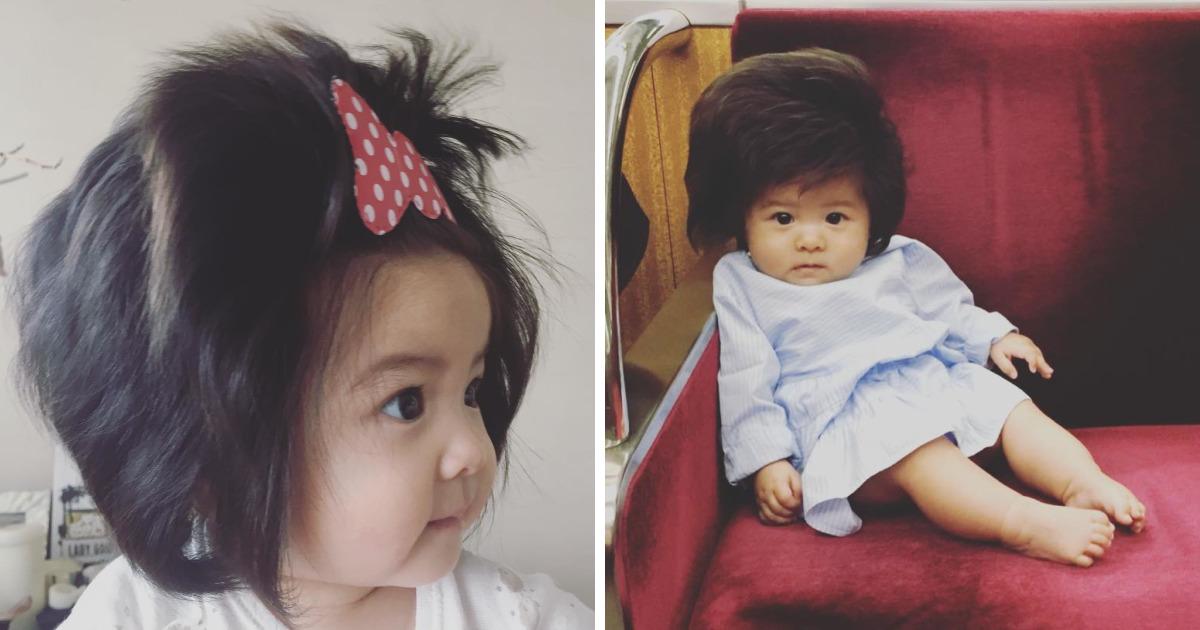 Menina japonesa de 6 meses tem cabelo melhor que a maioria de nós